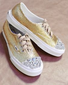DIY glittered sneakers - perfect for canvas