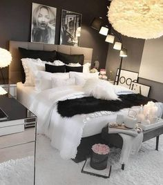 Werbung/Advertisement ( Markennennung) Enjoy the Cute Bedroom Ideas, Cute Room Decor, Bedroom Ideas For Small Rooms Women, Small Bedrooms, First Apartment Decorating, Aesthetic Room Decor, Stylish Bedroom, Dream Rooms, Luxurious Bedrooms