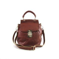 Small Genuine Leather Fashion Handbag $75