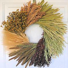 Dried Assorted Grains Wreath @Carter Merkle @Kamberly Diane Saunders-Smith --advanced--