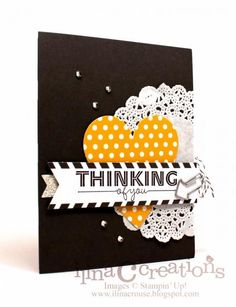 Thinking of you Stampin' Up! Love this use of the Everyday Occasions kit