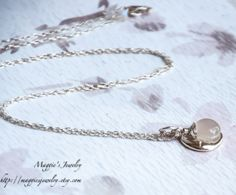 White  Gray Moonstone with Sterling Silver by maggiesjewelry