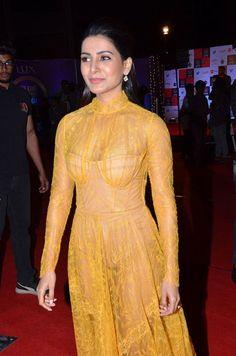 Samantha Akkineni at Zee Cine Awards Telugu 2020 - South Indian Actress South Actress, South Indian Actress, Beautiful Indian Actress, Samantha Images, Samantha Ruth, Aishwarya Rai Photo, Transparent Dress, Beauty Full Girl, Hot Dress