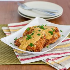 Almond Crusted Pork Chops with Mustard Sauce – On My Way To Skinny