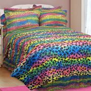 Rainbow Leopard Comforter Set