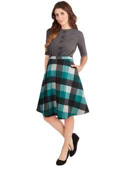 So Plaid You're Mine Skirt