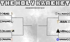 The Holy Bracket - The First Ever Tournament Between Religious Leaders First Ever, Interesting News, The One, Hilarious, Funny, Holi, Laughing Jokes, Big Time, Writing