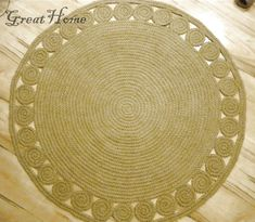 Made To Order Rug Round Rug, Natural Jute Rug, 120 cm Rug, Crochet Rug, Braided Rug, Handmade All jute rugs can be customized to fulfill your request. ~~~~~~~~~~~~~~~~~~~~~~~~~~~~~~~~~~ I make this beautiful rug by 100% natural jute. If youre looking for a natural material rug that looks