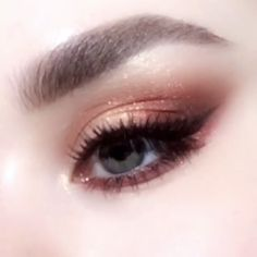Daily brown eye makeup.