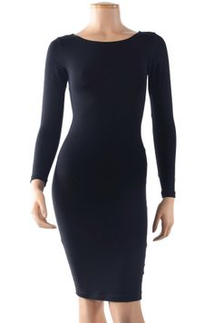 PLUS SIZE Long Sleeve Slim Dress JDK -5639