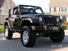 My ideal lift height for a 2 dr JK. Also has Spidertrax spacers. Two Door Jeep Wrangler, 2 Door Jeep, Jeep Wrangler Rubicon, Jeep Wrangler Unlimited, Lifted Ford Trucks, Gmc Trucks, Mercedes Jeep, Jeep Jku, Jeep Photos