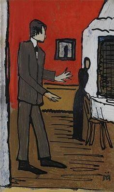 couple in interior, Gabriele Munter
