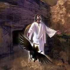 Pero al tercer día resucitó de la tumba con un triunfo poderoso sobre Satanás y…