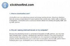 Le Clickhoofind.com est un site périlleuse développé par les cybercriminels pour tromper les fenêtres