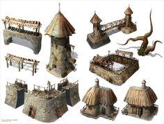 Fantasy props set on Behance