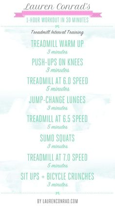 Treadmill Interval Workout --  Shape Up: How to Do a 1-Hour Workout in 30 Minutes - P.S:You can lose weight fast using these natural drops from->