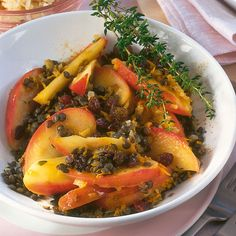 Currylinsen mit Apfel