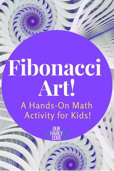 This math and art activity presents this would-be complex mathematical concept in an easy to understand, tangible way with Fibonacci art! Maths In Nature, Collaborative Art Projects, Math Activities For Kids, Math Projects, Homeschool Math, Homeschooling, Math Art, Art Curriculum, Geometry Art