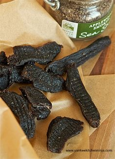 This Year's 5 Best Venison Jerky Recipes Wondering what to do with your venison this season? Check out our top five venison jerky recipes for some unique flavors that may not have crossed your mind. Simple Beef Jerky Recipe, Deer Jerky Recipe, Venison Recipes, Sausage Recipes, Cooking Recipes, Cooking Games, Venison Meals, Cooking Tips, Cooking Pasta