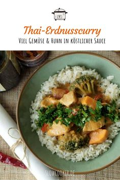 Slowcooker Curry, Crockpot, Broccoli, Slow Cooker, Chicken, Meat, Ethnic Recipes, Dinner, Food