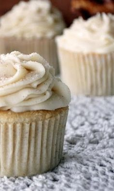 French Toast Cupcakes: used the batter recipe because my old recipe's link disappeared.... light and fluffy, will top with maple buttercream and crumbled bacon