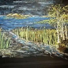 Blackboard landscape.    #waldorfschool #chalk #vrijeschool #draw #Blackboard #illustration #landscape #steinerschool #bordtekening