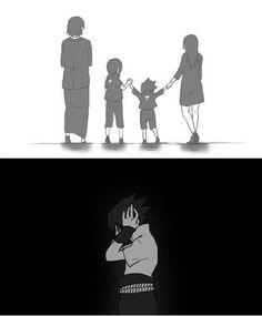 Sasuke Uchiha Good memories become the most painful because they remind Sasuke of what he no longer has. Naruto Uzumaki, Uchiha Fugaku, Sasuke And Itachi, Sasuke Sakura Sarada, Anime Naruto, Narusasu, Sasuhina, Sasunaru, Ninja