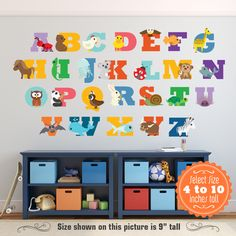 Marvelous ABC Wall Decal Animal Alphabet Decal Nursery By WallDecalSource, $85.00 |  Baby | Pinterest | Abc Wall, Animal Alphabet And Wall Decals