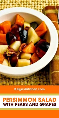 My Favorite Food, Favorite Recipes, Winter Fruit Salad, Fruit Salad Recipes, Holiday Tables, Pear, Low Carb, Treats, Healthy