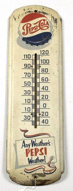 Antique Pepsi Cola Thermometers