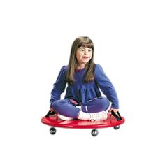 "This #child friendly #padded #scooter #board helps develop children?s neuromotor control as they propel themselves in any direction. Round Scooter Board features: Measures 24"" in diameter. Two handles for child to hold. Long-wearing 2"" casters. Washable, waterproof covering. Weight capacity: 100 pounds. Tumble Forms® round scooter, 24 inch"