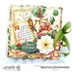 Treasure your holiday memories with this great album by Mariusz! So beautiful! #graphic45