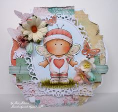 Jane's Lovely Cards: Lovely hAnglar and Sweet Magnolia Challenge DT - Butterfly