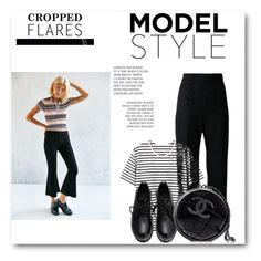 """""""Cropped Flares"""" by anumk19 ❤ liked on Polyvore featuring BDG, Chanel, Karen Millen, women's clothing, women's fashion, women, female, woman, misses and juniors"""