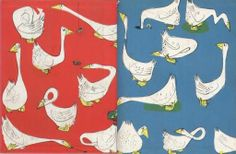 End papers of Petunia - Artist Roger Duvoisin
