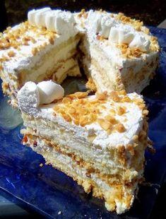 Greek Sweets, Greek Desserts, Greek Recipes, Food Gallery, Vanilla Cake, Tiramisu, Camembert Cheese, Food To Make, Wedding Cakes
