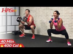 40 Min Total Body Strength Workout for Women & Men - Full Body Dumbbell Workout Home Weight Training - YouTube