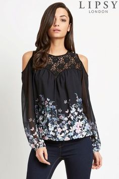 d398412f60011 Buy Lipsy Cold Shoulder Blouse from the Next UK online shop