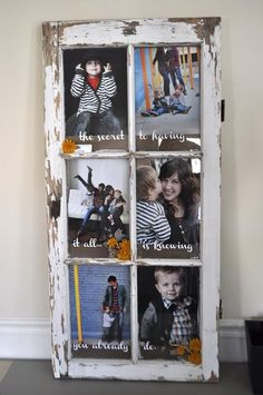 DIY Home : DIY Old Window Turned Picture Frame