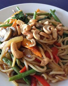 Asian Noodle Stir-Fry - This authentic style dish can be made easily at home and so much healthier for you than take-out. No MSG or artificial ingredients.