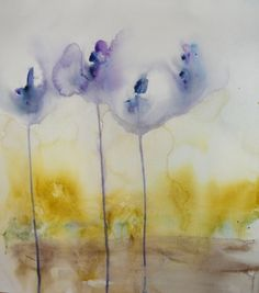 """Saatchi Online Artist: Karin Johannesson; Watercolor, 2012, Painting """"Dream in blue"""""""