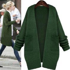 266c79163b 2018 Autumn winter new long sweater women s cardigan long-sleeve wild sweater  cardigan coat ladies