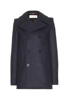 Saint Laurent - Peacoats Winter Trend Piece (Vogue.com UK)