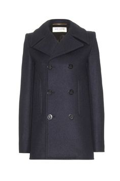 Saint Laurent - Peacoats Winter Trend Piece (Vogue.com UK)