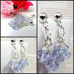 Swarovski crystal earrings  Alexandrite swarovski by AlejandraToro,
