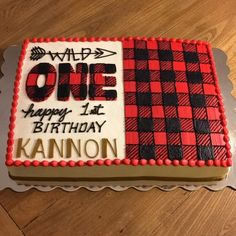 """""""Wild One"""" lumberjack themed birthday cake and smash cake. I totally ❤ this theme! So fun! 2017 has been full of birthdays for this caker! Lumberjack Cake, Lumberjack Birthday Party, Wild One Birthday Party, Baby Boy First Birthday, Boy Birthday Parties, Birthday Fun, Birthday Ideas, Cake Birthday, Birthday Crafts"""