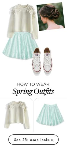 """Spring outfit"" by liblib11 on Polyvore featuring Aéropostale, Chicwish, Converse, women's clothing, women, female, woman, misses and juniors"