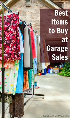 With garage sale season here, check out these 10 Best Items to Buy at Garage or Yard sales.