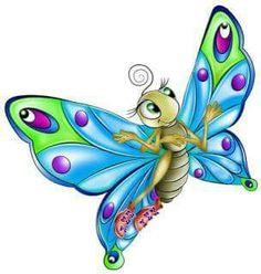 Cartoon butterfly fairy Free PNG and Clipart Butterfly Cartoon Images, Butterfly Clip Art, Butterfly Fairy, Cute Butterfly, Butterfly Painting, Butterfly Crafts, Beautiful Butterflies, Mariposa Butterfly, Art Papillon