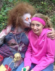 Mary Jane found a new friend at the Wicked Forest Haunted Attraction
